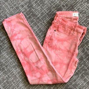 Abercrombie & Fitch Salmon Tie Dye Jeans (Size 2)